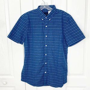 American Eagle Outfitters Button Stripe Polo Shirt